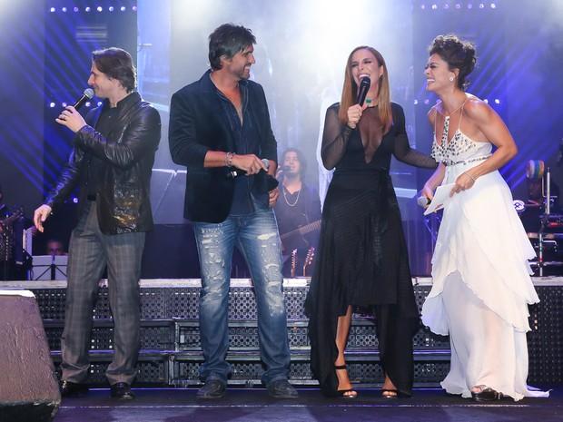 Murilo Rosa, Leo, Ivete Sangalo e Juliana Paes em festa em Uberlândia, Minas Gerais (Foto: Manuela Scarpa/ Brazil News)