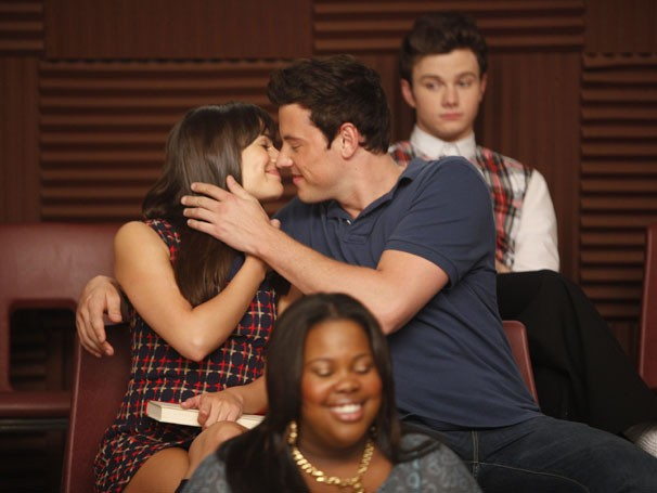 Lea e Cory falam sobre o futuro de Rachel e Finn (Foto: Divulgação / TV Globo)