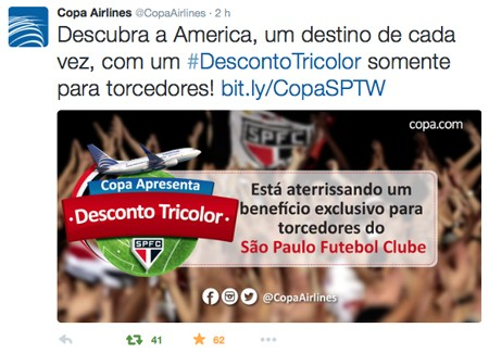 Copa Airlines SPFC Twitter