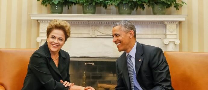 Dilma Rousseff em reunião com o presidente dos Estados Unidos (Foto: Roberto Stuckert Filho/PR)