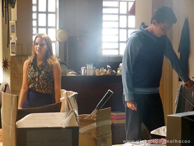 Ben sofre por ter que terrminar namoro com Anita  (Foto: Malhação / TV Globo)