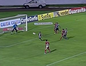 Jeferson Balinha - lateral do ABC - gol contra Boa Esporte (Foto: Reprodução / Premiere FC)