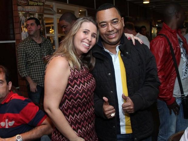 Andréa Sorvetão e Dudu Nobre em festa no Rio (Foto: Anderson Borde/ Ag. News)