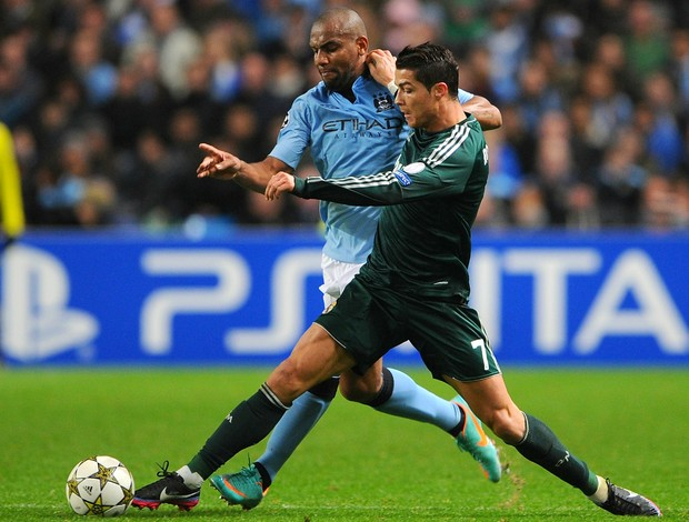 Maicon Cristiano Ronaldo Manchester City Real Madrid (Foto: Getty Images)