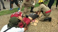 Estudante agredido por policial em ato em Goiânia está em estado grave