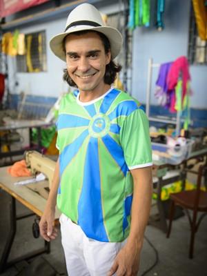 André Gonçalves posa na pele de Etevaldo (Foto: Alex Carvalho/TV Globo)