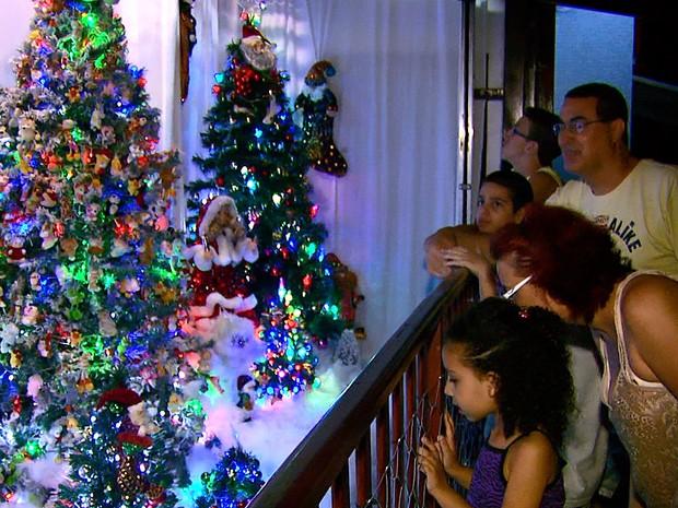 Decoração chama a atenção de crianças e adultos em Rio Pardo (Foto: Eder Ribeiro/EPTV)