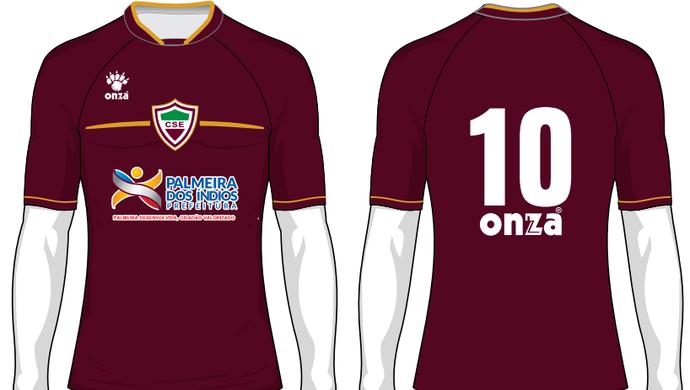 Modelo 3 do uniforme do CSE para 2016 (Foto: Divulgação / Assessoria CSE)