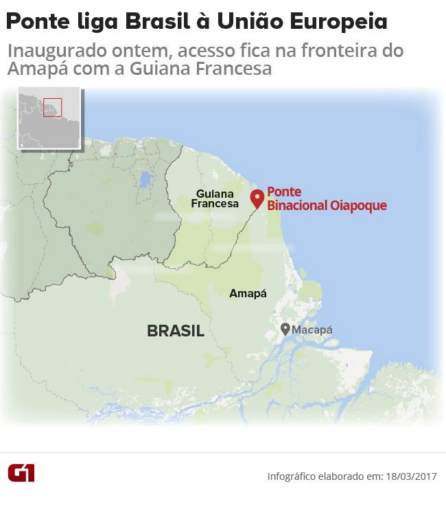 Info, Oiapoque, Guiana, Amapá (Foto: Arte/G1)