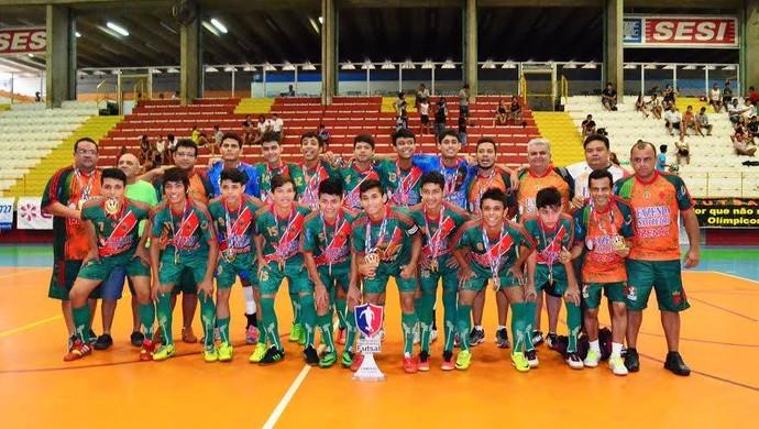 Tuna Luso conquista o título do Amazonense de Futsal sub-17 (Foto: Reprodução/Facebook)