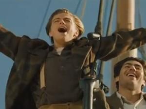 Leonardo DiCaprio em 'Titanic'