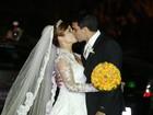Com a presença de amigos famosos, Bárbara Borges se casa no Rio