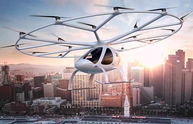 Projeção de veículo da Volocopter (Foto: Volocopter)
