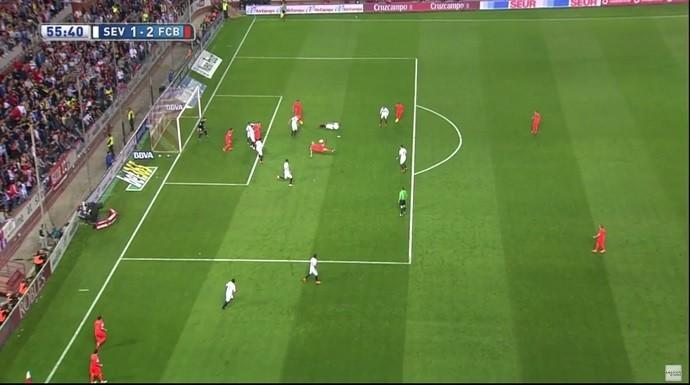 Mathieu frame Barcelona Sevilla