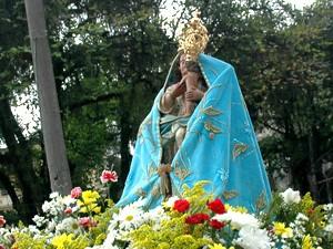 Imagem de Nossa Senhora do Monte Serrat, padroeira de Santos, SP (Foto: Anderson Bianchi/Prefeitura de Santos)