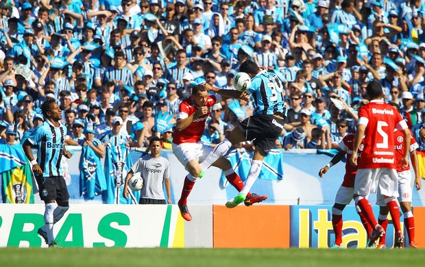 Werley e Josimar no Gre-Nal do Olímpico (Foto: Lucas Uebel/Divulgação, Grêmio)