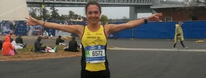 Inscrita quinze dias antes, brasileira é 53ª mulher na Maratona de Nova York (Arquivo Pessoal)