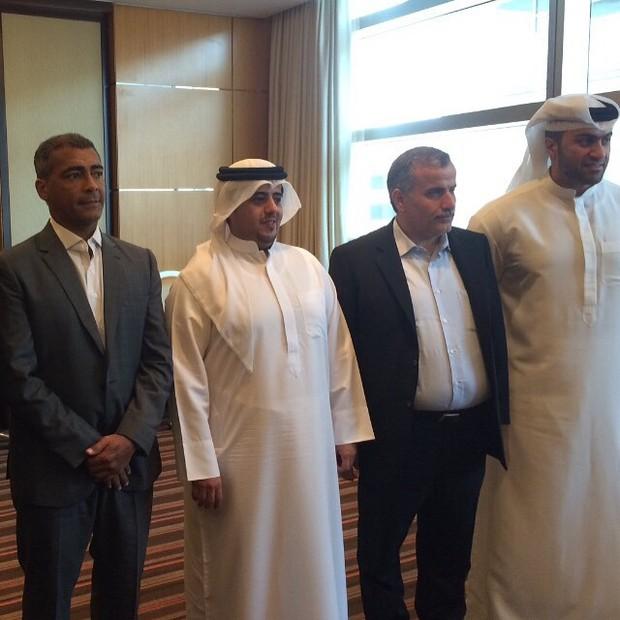 Romário tem encontro diplomático em Dubai (Foto: Reprodução/Instagram)
