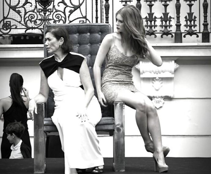 Lilia Cabral e Marina Ruy Barbosa 'dividem' trono (Foto: Raphael Dias/Gshow)