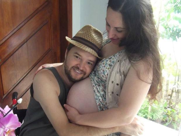 'Foi uma surpresa enorme', diz Jonas sobre a gravidez de Elaine (Foto: Jonas Kernitskei/Arquivo pessoal)
