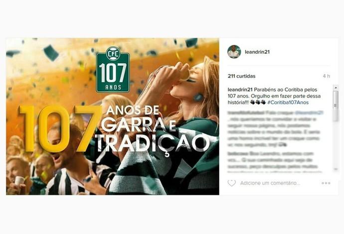 Leandro Coritiba aniversário (Foto: Reprodução/Instagram)