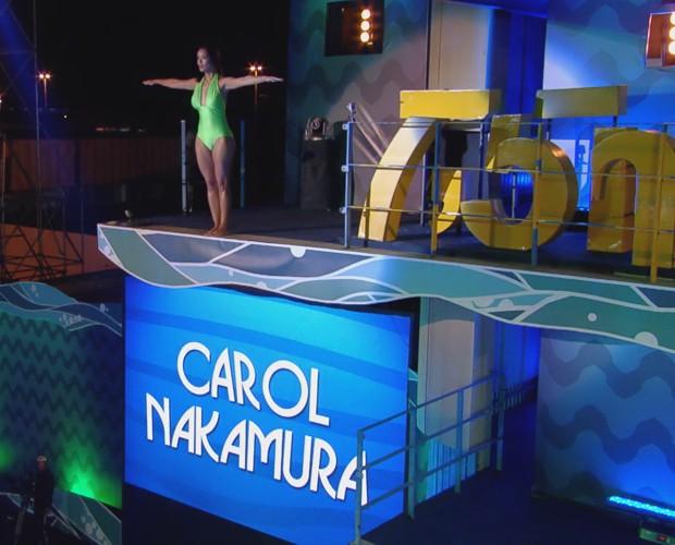 Nakamura está fora da competição (Foto: TV Globo)