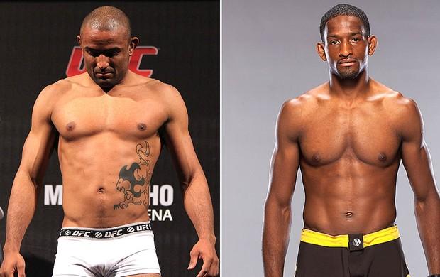 montagem UFC Serginho Moraes Neil Magny (Foto: Editoria de Arte)