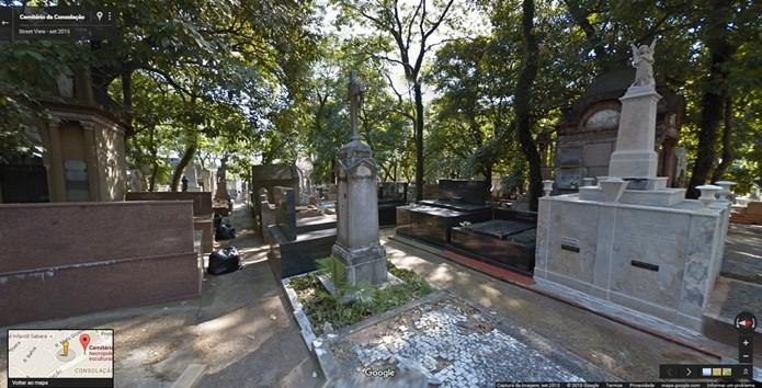 No cemitério da Consolação está o maior mausoléu da América Latina, o da família Matarazzo (Foto: Reprodução/Gabriel Ribeiro)