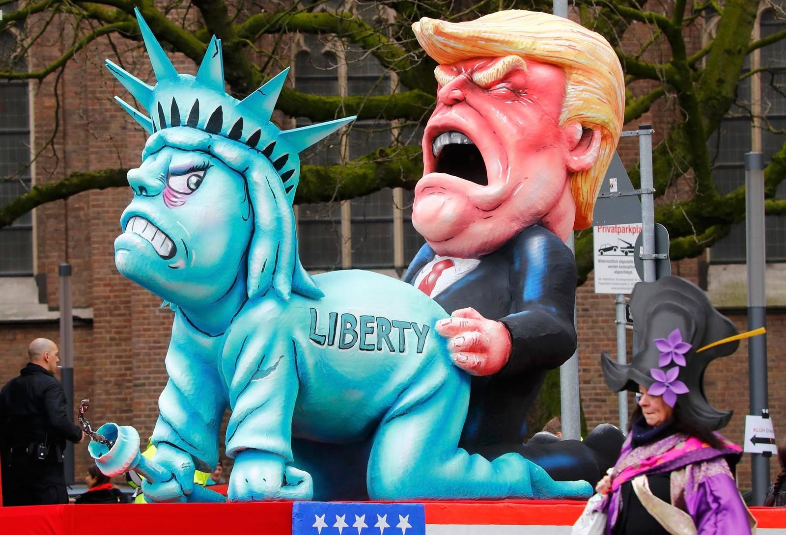 Desfile de carnaval na Alemanha satiriza Trump e primeira-ministra britânica