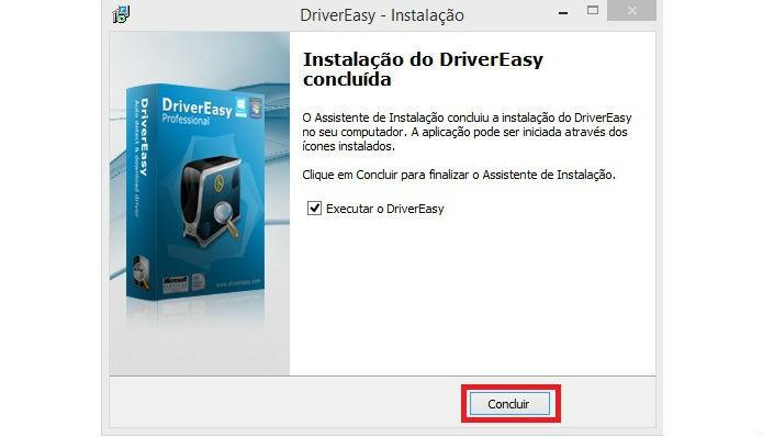Instalação do DriverEasy é rápida e fácil