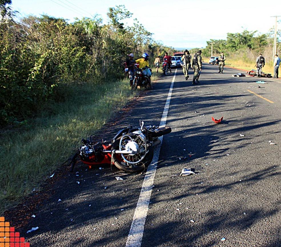 Acidente entre motos deixa duas pessoas mortas no Piauí (Foto: Jorge Henrique/Piracuruca ao Vivo)