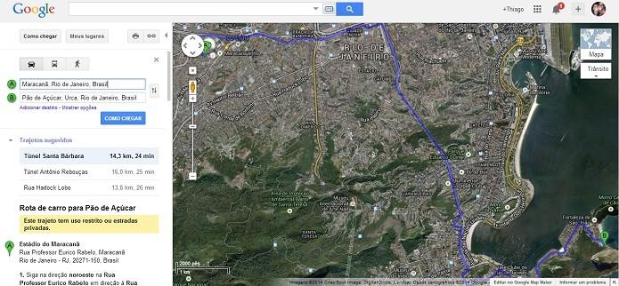 Faça busca no Maps (Foto: Thiago Barros/TechTudo)