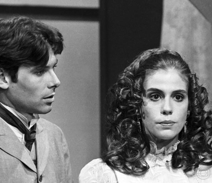 Sandra Bréa com Eduardo Tornaghi em 'Memórias de Amor', 1979 (Foto: Nelson Di Rago/ TV Globo)