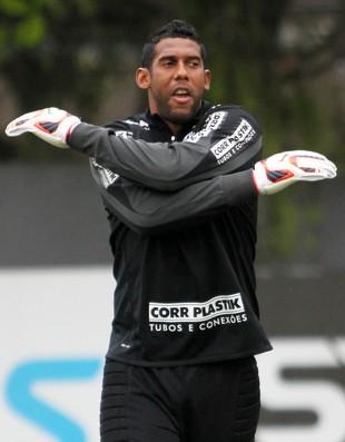 Aranha treino Santos (Foto: Marcelo D Sants / Ag. Estado)