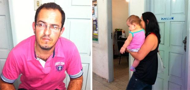 Edivalberto de Pontes Araújo e Genúbia Oliveira, pais do bebê (Foto: Caroline Holder/G1)