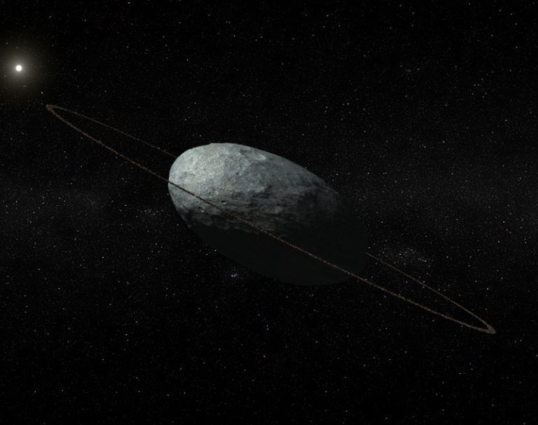 Anel de Haumea (Foto: IAA-CSIC/UHU)