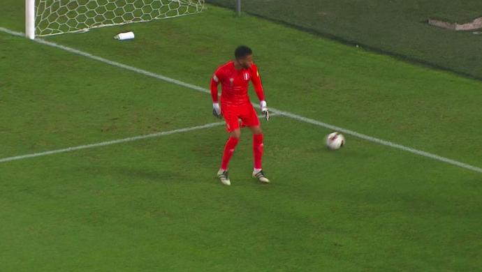 Gallese, goleiro da seleção do Peru (Foto: Reprodução SporTV)