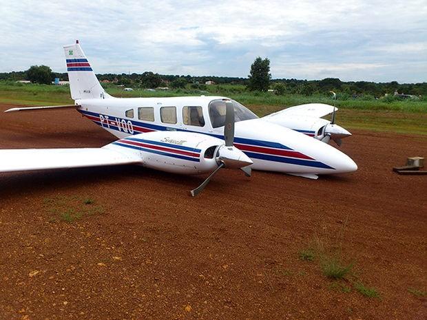 Avião saiu de uma fazenda que fica a 80 quilômetros de Canarana. (Foto: Assessoria/PM)