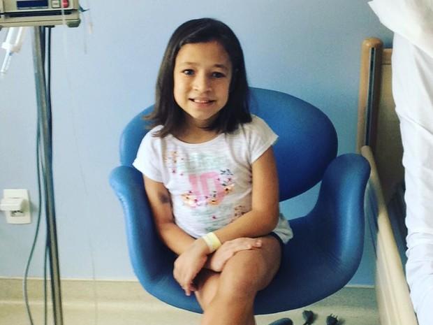 Menina nasceu com malformação no intestino (Foto: Glaucia Marina Ramos Diringer/Arquivo Pessoal)