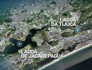 lagoa jacarepaguá jogos olímpicos sportv news (Foto: Reprodução SporTV)
