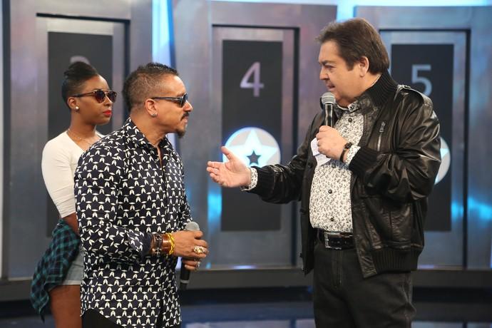 Freedom Williams conversa com Faustão (Foto: Carol Caminha/Gshow)