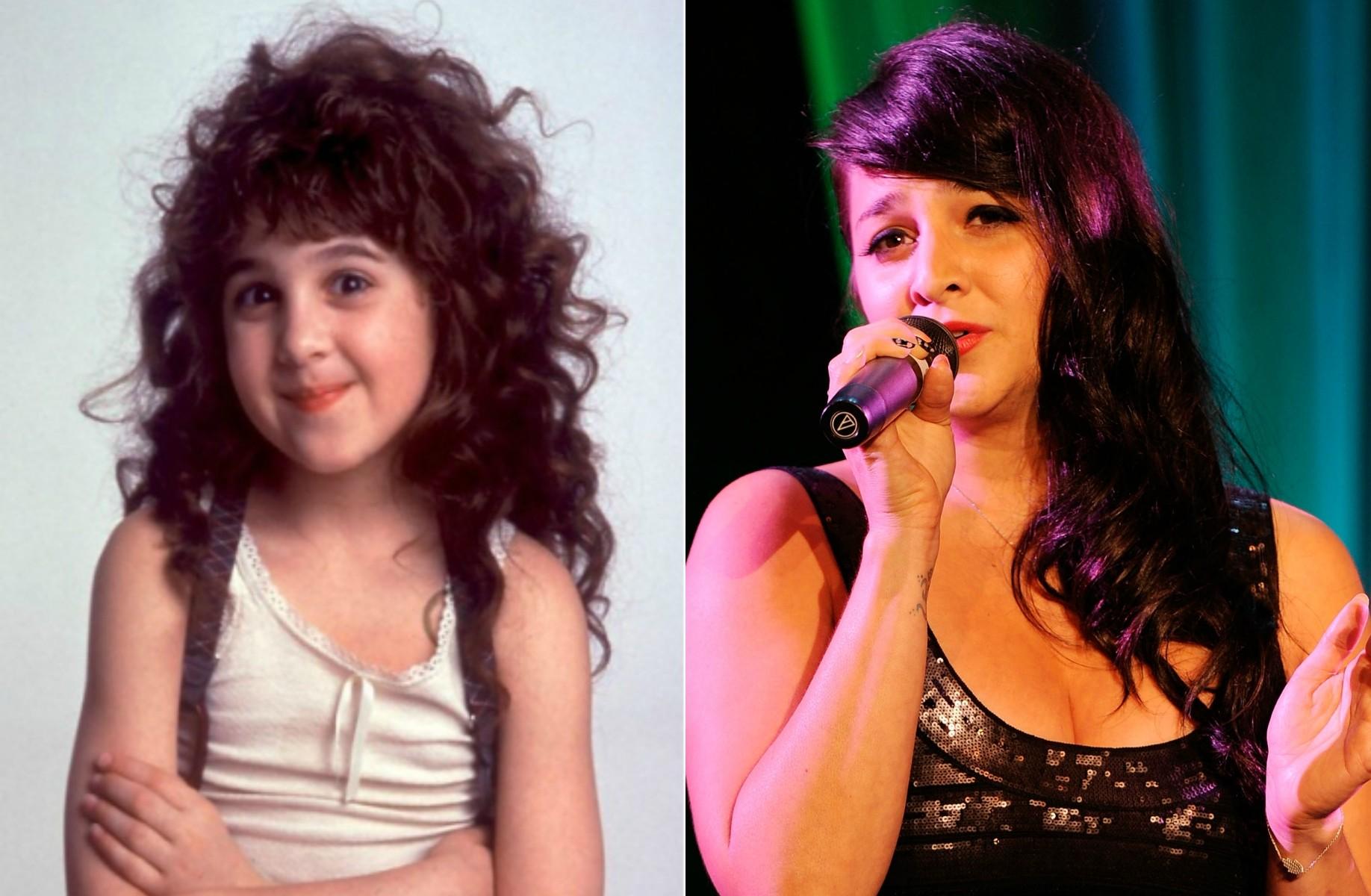 Alisan Porter já foi 'A Malandrinha' em 1991. Na atualidade, aos 34 anos de idade, é cantora. (Foto: Reprodução e Getty Images)