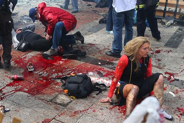 Imagem original feita pouco depois das explosões em Boston (Foto: John Tlumacki/The Boston Globe via Getty Images)
