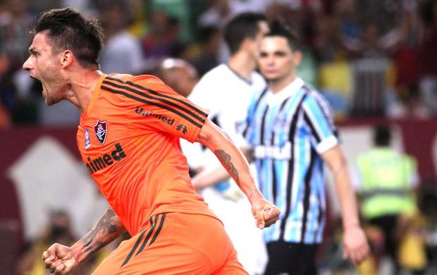 Rafael Sobis comemoração gol Fluminense e Grêmio (Foto: Fernando Cazaes / Photocamera)