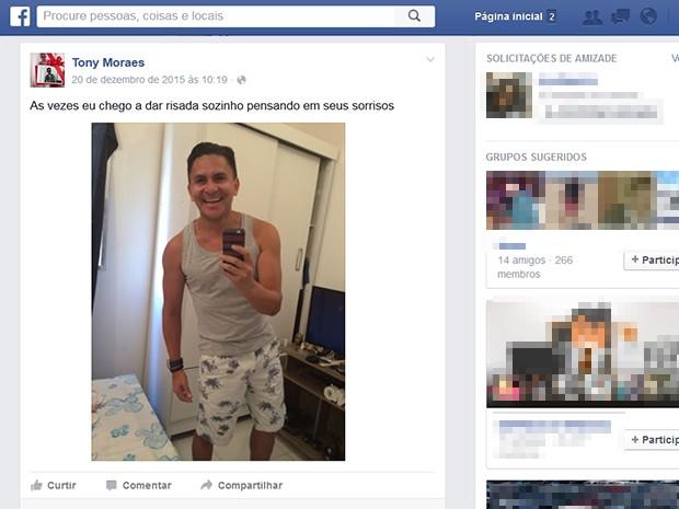 Tony tinha 35 anos e residia em Rio das Pedras, no Rio de Janeiro (Foto: Reprodução/Facebook)