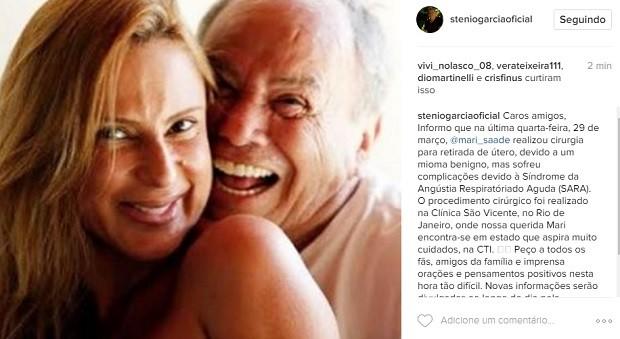 Post de Stênio Garcia (Foto: Reprodução/Instagram)