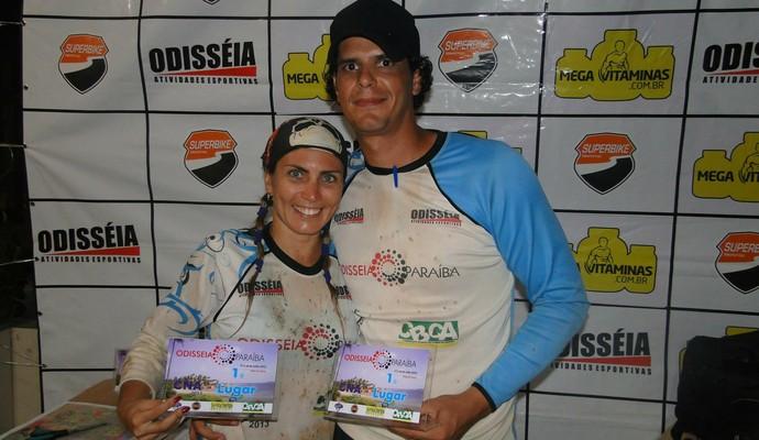 Gabriela Lima e o marido vão disputar o Brasil Ride de Mountain Bike pela Paraíba (Foto: Divulgação)