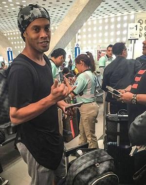 Ronaldinho viaja para Vegas (Foto: Instagram)