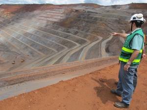 mina de brucutu (Foto: Darlan Alvarenga/G1)