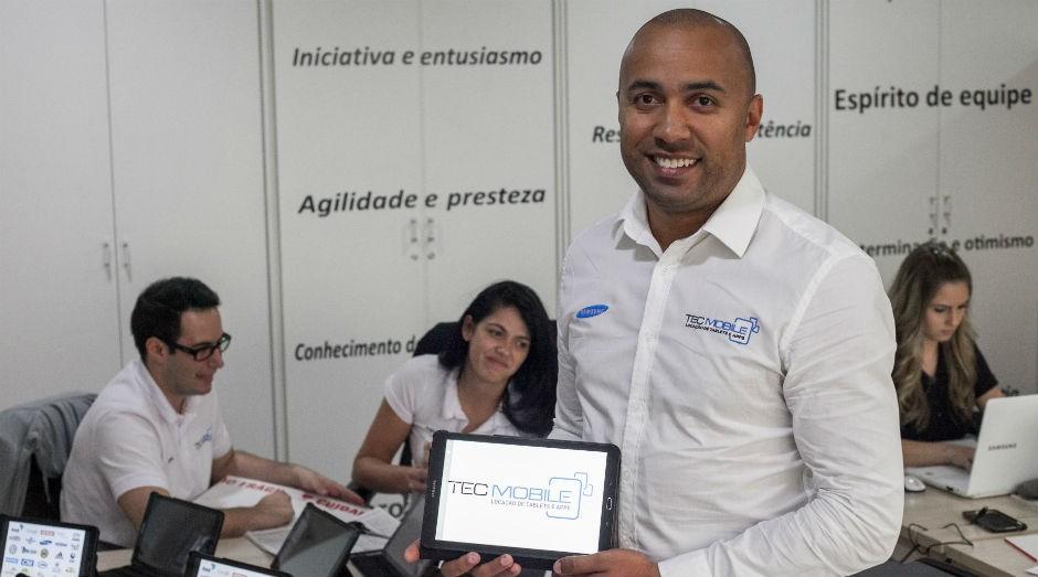 Evandro Barros, da Tecmobile: história de empreendedorismo (Foto: Cris Castello Branco)